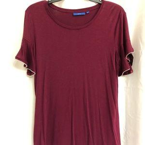 (L) Apt. 9 Burgundy Shirt